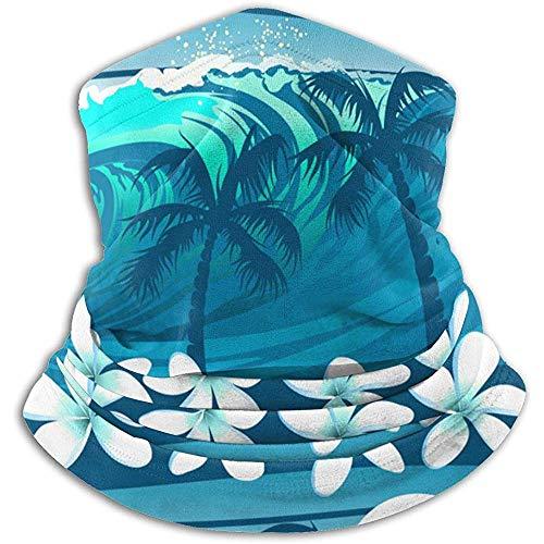 Olive Helin(a) Blue Tropical Surfen mit Palmen UV-Sonnenschutz Gamasche Sonnenmaske, Gesichtsschutz zum Angeln, Wandern, Kajak Maske,