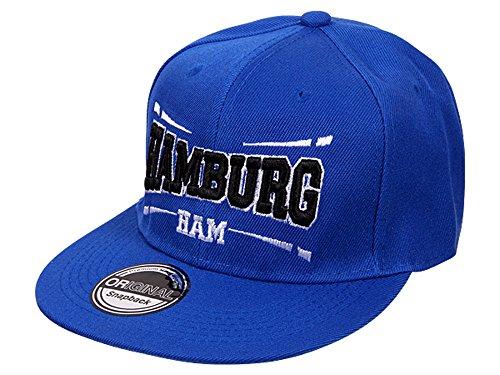 Snapback Fussball Bundesliga Fan Sports Caps Basecap Hamburg HAM blau