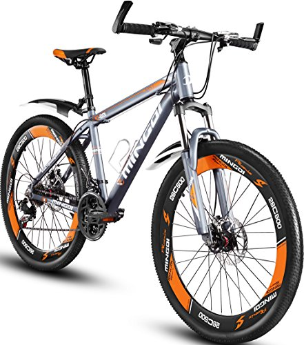 "Mountain Bike, MINGDI 26"" MTB 24 Speed Bicycle with Disc Brakes (26INCH)"