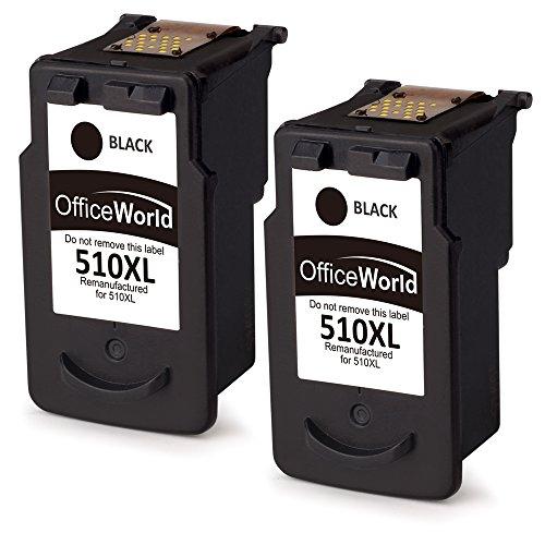 OfficeWorld PG-510XL (2 Nero) Remanufactured Cartucce Canon PG-510 Compatibile con Canon Pixma MP250 MP280 MX320 MP230 MP235 MP240 MP495 iP2700 iP2702 MP260 MP270 MP490 MX340 MX350 MX360 MX410 MP282