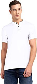 STOP by Shoppers Mens Band Collar Solid Polo T-Shirt
