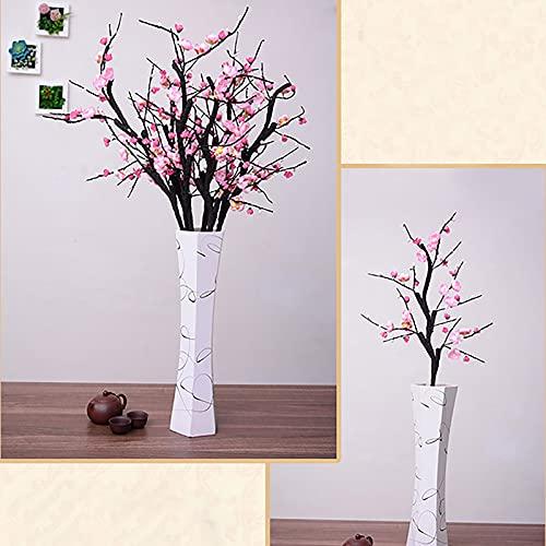 AUPSU 4 flores artificiales rojo/blanco/rosa, flor de cerezo, Pro 35.4 pulgadas, ramas de melocotón, seda alta, arreglos de flores falsas, para decoración de centros de mesa de boda del hogar