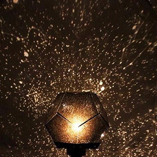 DECDEAL Lâmpada de projeção de luz das estrelas Luz noturna de estrela LED Lâmpada de projetor estrela Estrela Projeção de céu Cosmos Lâmpada de luz noturna Carregar USB Recarregável Luz Decorativa