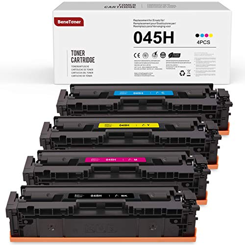4 BeneToner Toner Kompatibel für Canon 045H 045 für Canon i-SENSYS MF635Cx MF633Cdw LBP613Cdw MF631Cn LBP611Cn MF632Cdw MF634Cdw MF636Cdwt LBP612cd