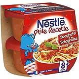 Nestlé Bébé P'Tite Recette Spaghetti à la Bolognaise Plat Complet Dès 8 Mois 2 x 200 g