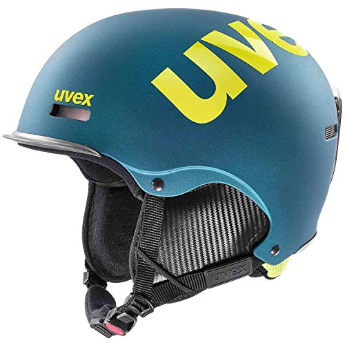 Uvex hlmt 50, deep Emerald mat, 55-59 cm | Skihelm Snowboard-Helm Freeride-Helm | Kinder Damen Herren | anpassbar