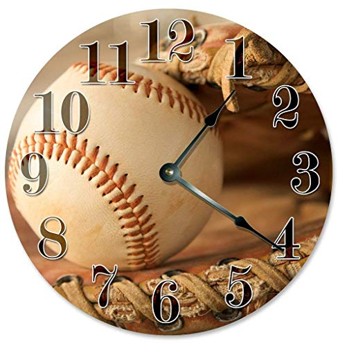 prz0vprz0v Classic houten klok, niet-tikkende klok 12
