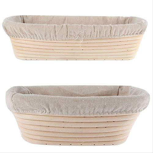 GJDBBLY mand 3 maten ovaal deeg dougn rotan brood proofing Proving Baskets gereedschap 1 stuk