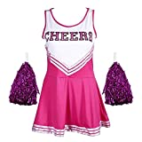 Angel ZYJ Femme Costume de Cheerleader High School Uniforme de Pom-Pom Girl Musical...