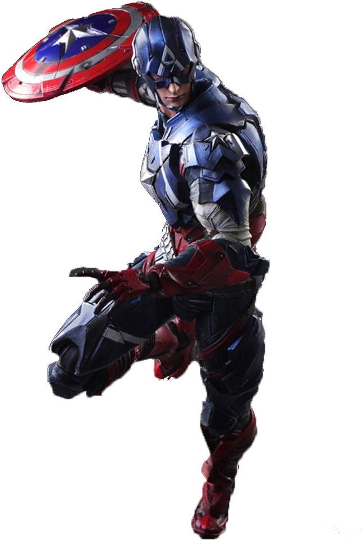 GXHLLYZY Marvel Captain America giocattoli, Capitan America azione cifras - 11 Pollici, Adatto A Bambini di età Compresa tra 3 E Oltre