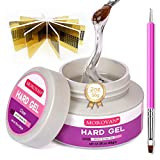 Morovan LED UV Gels Builder Gel Nail Extension Gel Nail Strengthen Acrylic Gel UV Gel Nail Art Manicure Set with Nail Forms and Dual-use Pen Nail Art Supplies