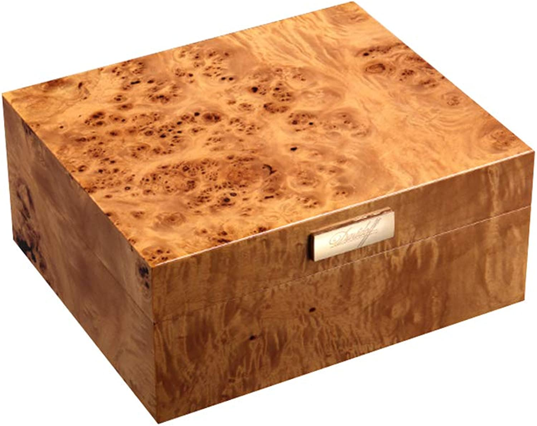 YONG FEI Zigarrenschachtel - feuchtigkeitsspendender Humidor mit feuchtigkeitsspendender Zedernholzklavierfarbe großer Kapazität Zigarrenschachtel (Farbe   A) B07MP9LP68