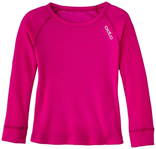 Odlo Warm T-Shirt Manches Longues Fille, Violet Pink, FR : 10 Ans (Taille Fabricant : 140)