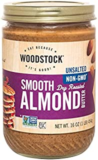 Smooth Almond Butter Unsalted 16 Ounce (454 Grams) Jar