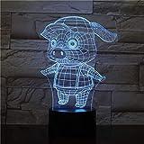Luce notturna 3D Maiale LED Multicolor RGB Camera Decor lampada per bambini Regalo di Natale Giocattoli lampada nave di caduta Amazon