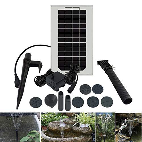 MJLXY Bomba de Agua Solar en Miniatura 12V/3W - Fuente para jardín, Estanque para el Agua - Altura del Ciclo del Agua: máximo 80 cm