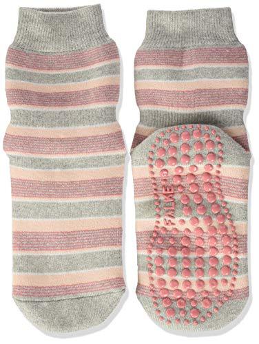 FALKE Unisex Kinder Mixedstripe Cp Socken Stoppersocken, grau (storm grey 3820), 35-38