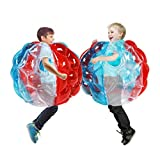 SUNSHINE-MALL Colourful Bumper Balls for Kids,Buddy Bubble Balls for Kids,Giant Human Hamster Knocker Ball Body Zorb Ball for Child Outdoor Team Gaming Play for 3-12 Ages( 24inch 2pcs)
