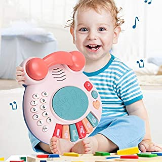 Bebamour Phone Toy for Classic Toy Phone 1-3 Year Old Baby Boy Girl Gift for Girl Boy Kid Baby Telephone Toy Age 1 2 3 Boy...
