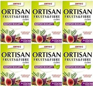 (6 PACK) - Ortis - Fruits & Fibre Cubes   24 Cubes box   6 PACK BUNDLE by Ortis
