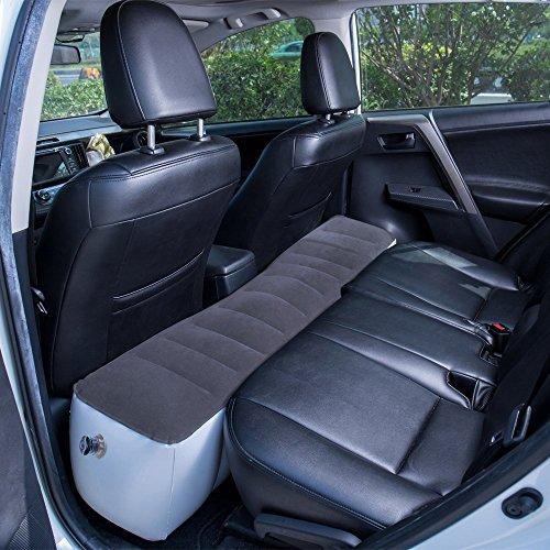 FMS Car Travel Inflatable Mattress Back Seat Gap Pad Mattress Air Bed Cushion Camping Air Couch (Gray)