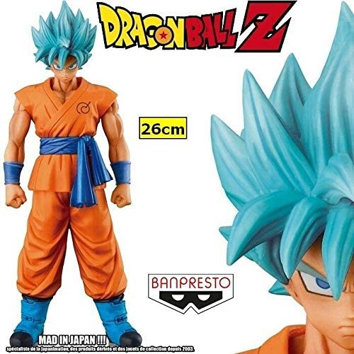 Figure The Son Goku GOKOU 26 cm Master STARPIECE BANPRESTE Super Saiyan God Blau