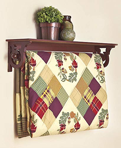 Read About LTD. Deluxe Quilt Rack with Shelf, Walnut