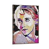Bette Davis Filmschauspieler, Farbkunst-Poster, dekoratives