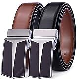 BULLIANT Hombre Cinturón, Cuero Cinturón Reversible 31MM,Una Cintura Invertire a Due Colori,Tamaño Ajuste
