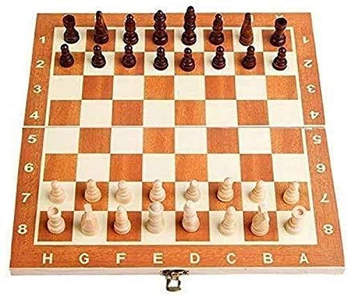 Muyuuu Juego de ajedrez Chess International Chess Tablero Plegable Juego de ajedrez Juego de ajedrez portátil Set International Chess Set Toying Regalo para niños Chile