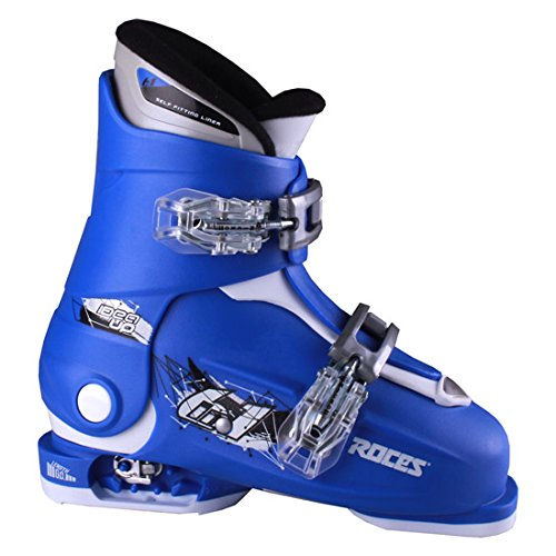 Roces 2018 Idea Adjustable Blue/White Kids Ski Boots 19.0-22.0