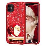 Pnakqil Funda HuaweiP8Lite 2017 Rojo Silicona con Dibujos Carcasa Diseño Gel TPU Suave Piel Case Antigolpes Bumper Protectora Back Cover para HuaweiP8Lite 2017, Navidad 04