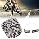 Fahrradkette einstellbar 21/24 Universal 6/7/8 IG51 für Cyclocross-Bike, Hybrid-Bike, Kinder-Bike, Mountainbike, Rennrad, Tandem-Bike, Zeitfahren/Triathlon-Bike, Tourenrad, Town Bike