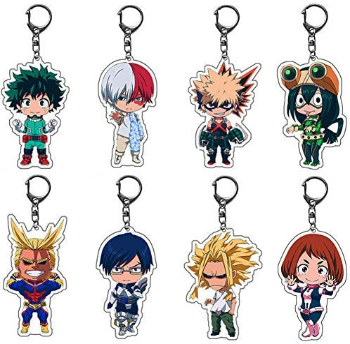 My Hero Academia Rubber Strap Keychain Boku no Hero Akademia Keyring Bakugo MHA