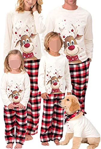 Family Christmas Pjs Matching Sets Baby Christmas Matching Jammies for Adults and Kids Holiday Xmas Sleepwear Set (A Style,X-Large)
