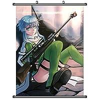 キリトアスナアニメ巻物ポスター家の装飾壁アート壁画 19.7x29.5inch/50x75cm