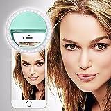 SISWOO R2 PHANTOM (Hellgrün) Clip auf Selfie Ringlicht, mit 36 LED für Smartphone Camera R&e Form, von I-Tronixs