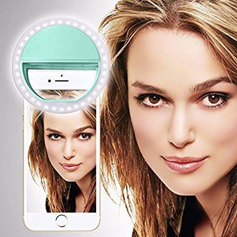 i-Tronixs SISWOO R9 DARKMOON (Hellgrün) Clip auf Selfie Ringlicht, mit 36 LED für Smartphone Camera R&e Form