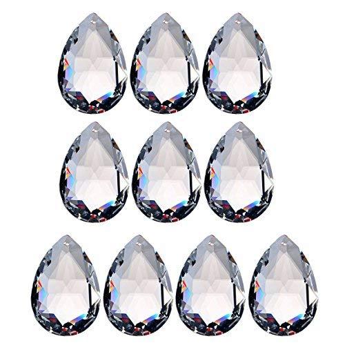 MASUNN 10Pcs Claro Araña Cristal Prismas Luz Colgantes Colgantes Gotas 38Mm