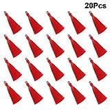 EXCEART 20 Pezzi Mini Nappe Setose Nappine Morbide Fatte a Mano Nappine Colorate Orecchini Nappe Portachiavi Segnalibro Nappe per Orecchini Portachiavi Fai da Te Gioielli (Rosso)