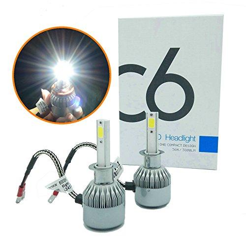 Heinmo Lot de 2 ampoules LED H3 72 W (36 W par lampe) 7600 lm 6000 K avec puce LED avancée