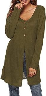 Women's Casual Loose Cardigan Long Sleeve Knit Lightweight Sweaters Coat