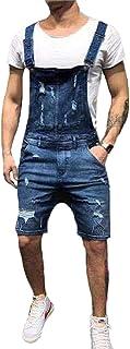 Shawnlen Salopette da Uomo Casual in Salopette da Combattimento da Uomo in Salopette Salopette con Jeans stotewash