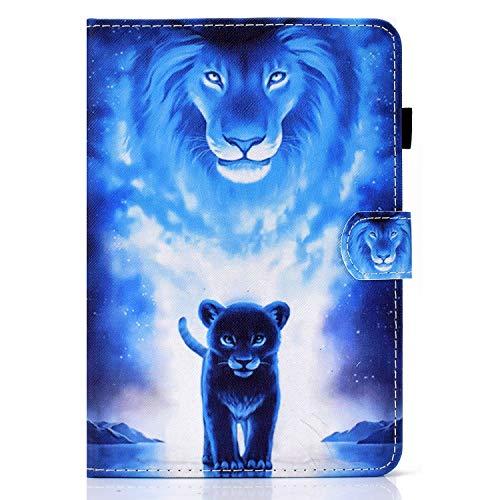 zl one Compatível com/Substituição para Tablet PC Kindle Paperwhite 1, 2, 3, 4, capa flip de couro PU com suporte magnético (leão)