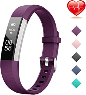 Lintelek Fitness Tracker, Activity Tracker with Heart Rate Monitor, IP67 Waterproof Step Counter, Calorie Counter, Pedometer for Kids, Women, Men and Gift