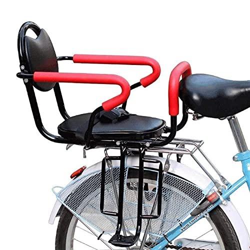 litulituhallo Asiento trasero de bicicleta cojín bicicleta mango niño seguridad portador bebé