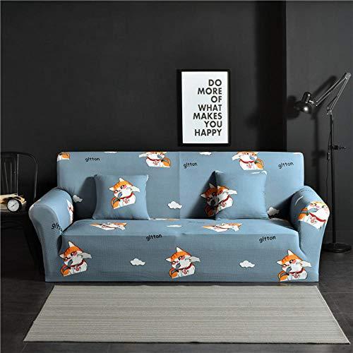 Allenger 1 Protector elástico para Muebles,Funda de sofá elástica Universal, Funda de sofá Antideslizante Todo Incluido, cojín de sofá de Tela de Esquina- # 4_235-300cm