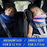 BCOZZY Kinder Nacken und Kinn stützendes Reisekissen – unterstützt den Kopf, Hals und das Kinn. Ein Patentiertes Produkt. Kindergröße, MARINEBLAU - 7