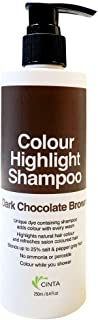 Cinta Color Shampoo Dark Chocolate Brown, 250 ml (packaging may vary)