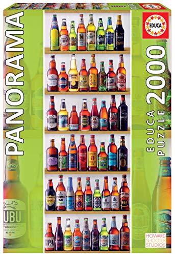 Educa - Cervezas del Mundo Panorama Puzzle, 2000 Piezas, multicolor (18010)